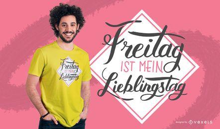 Diseño de camiseta de viernes alemán