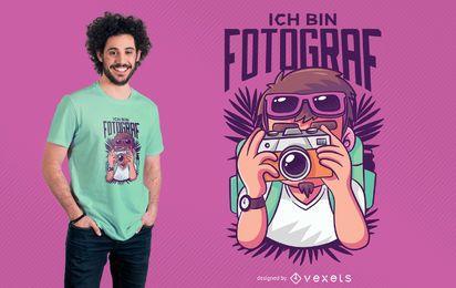 Diseño de camiseta Ich Bin Fotograf
