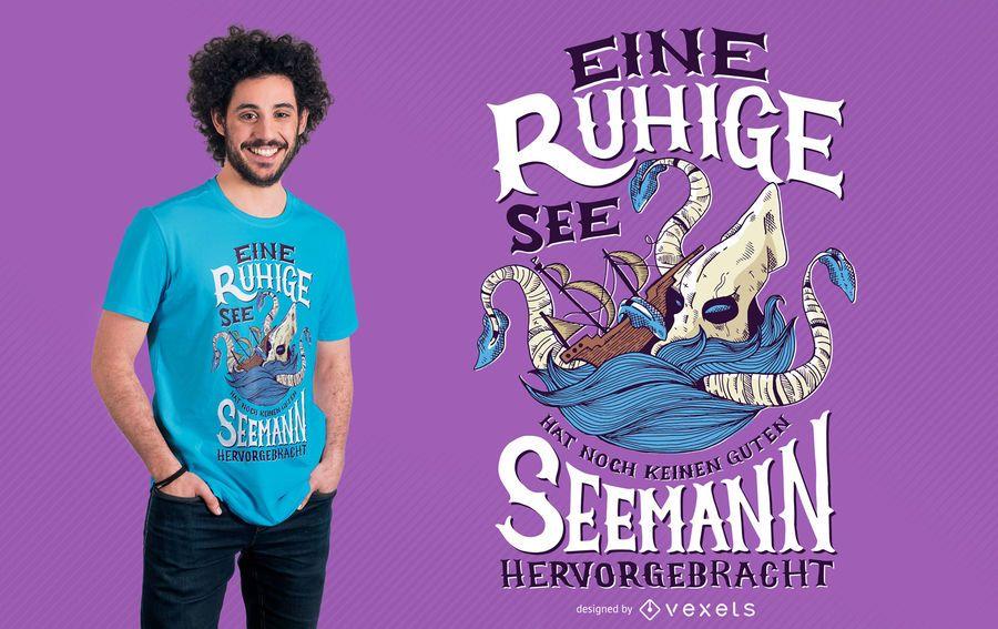 Kraken Sea Tshirt Design
