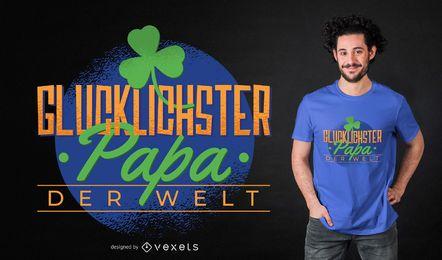 Projeto afortunado do t-shirt da papá