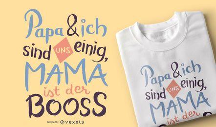 Design alemão do t-shirt do Mama Chefe