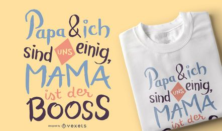 Diseño de camiseta alemana Mama Boss