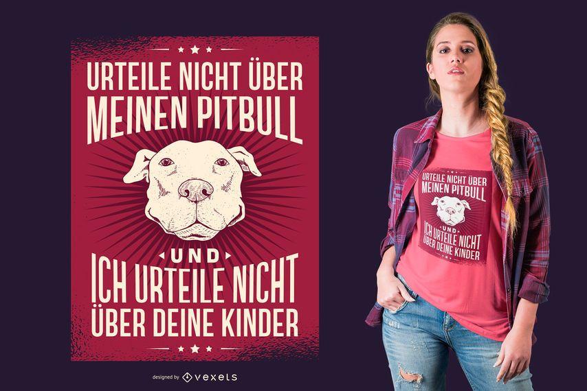Diseño de camiseta de Pitbull alemán