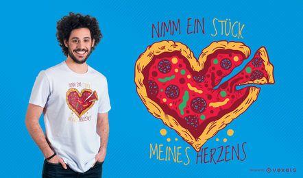 Diseño de camiseta de pizza alemana