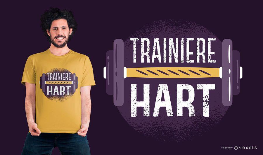 Diseño de camiseta alemana de tren duro