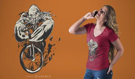 Projeto do t-shirt da bicicleta da equitação da lagosta