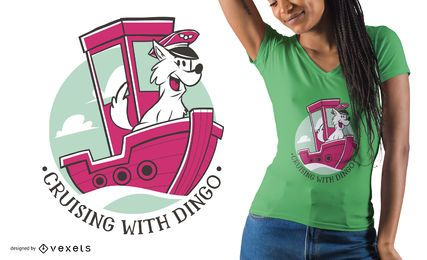 Diseño de camiseta de capitán de perro