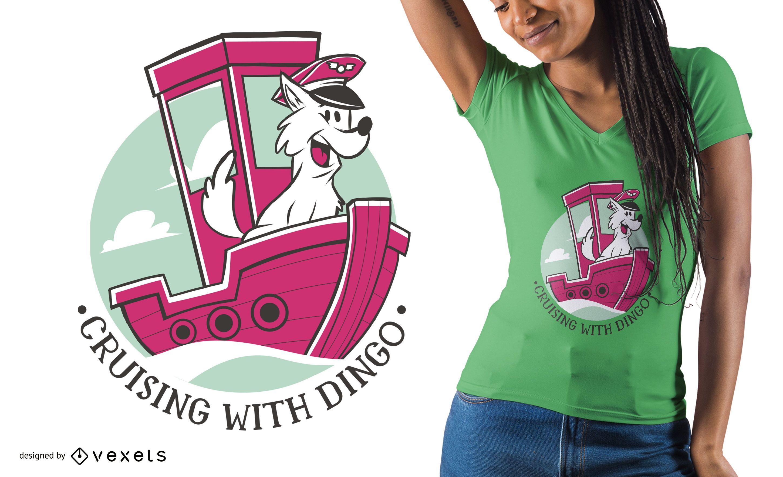 Dog Captain T-shirt Design