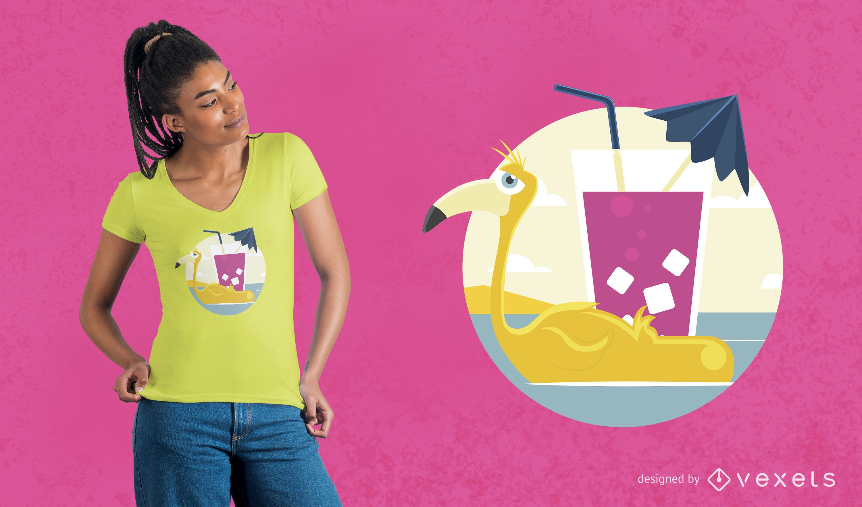 Flamingo Float T-shirt Design