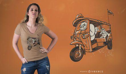 Gorilla Taxi T-shirt Design