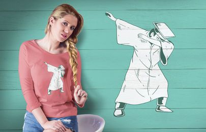 Estudante Dabbing T-shirt Design