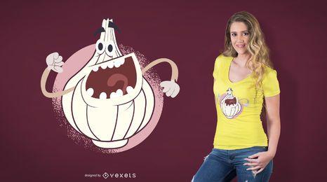 Diseño de camiseta de risa cebolla