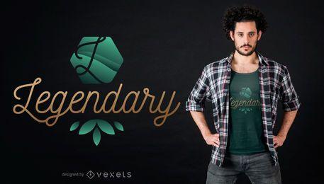 Design lendário de camisetas
