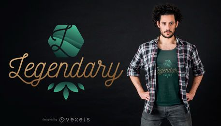 Diseño de camiseta legendario