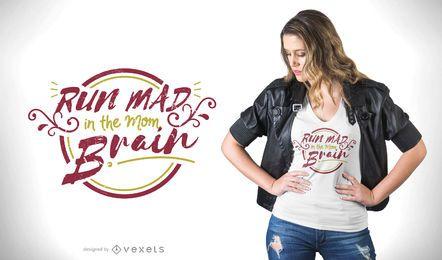 Projeto do t-shirt do cérebro da mamã