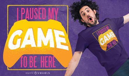 Projeto pausado do t-shirt do jogo