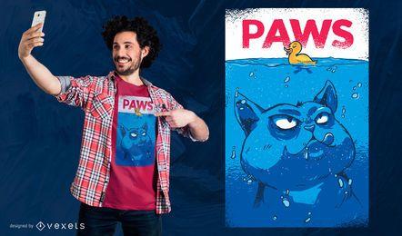 Diseño de camiseta Paws