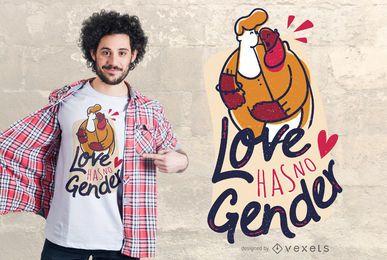 Design de camisetas com amor igual