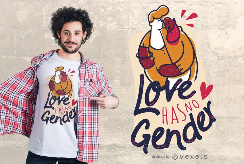 Igual amor diseño de camiseta