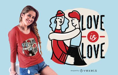 Love is love t-shirt design