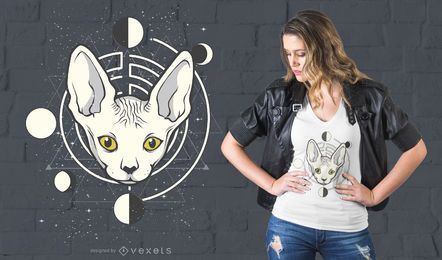 Raum-Katzen-T-Shirt Design