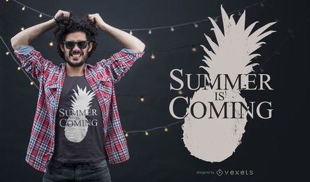 Diseño de camiseta Summer is Coming