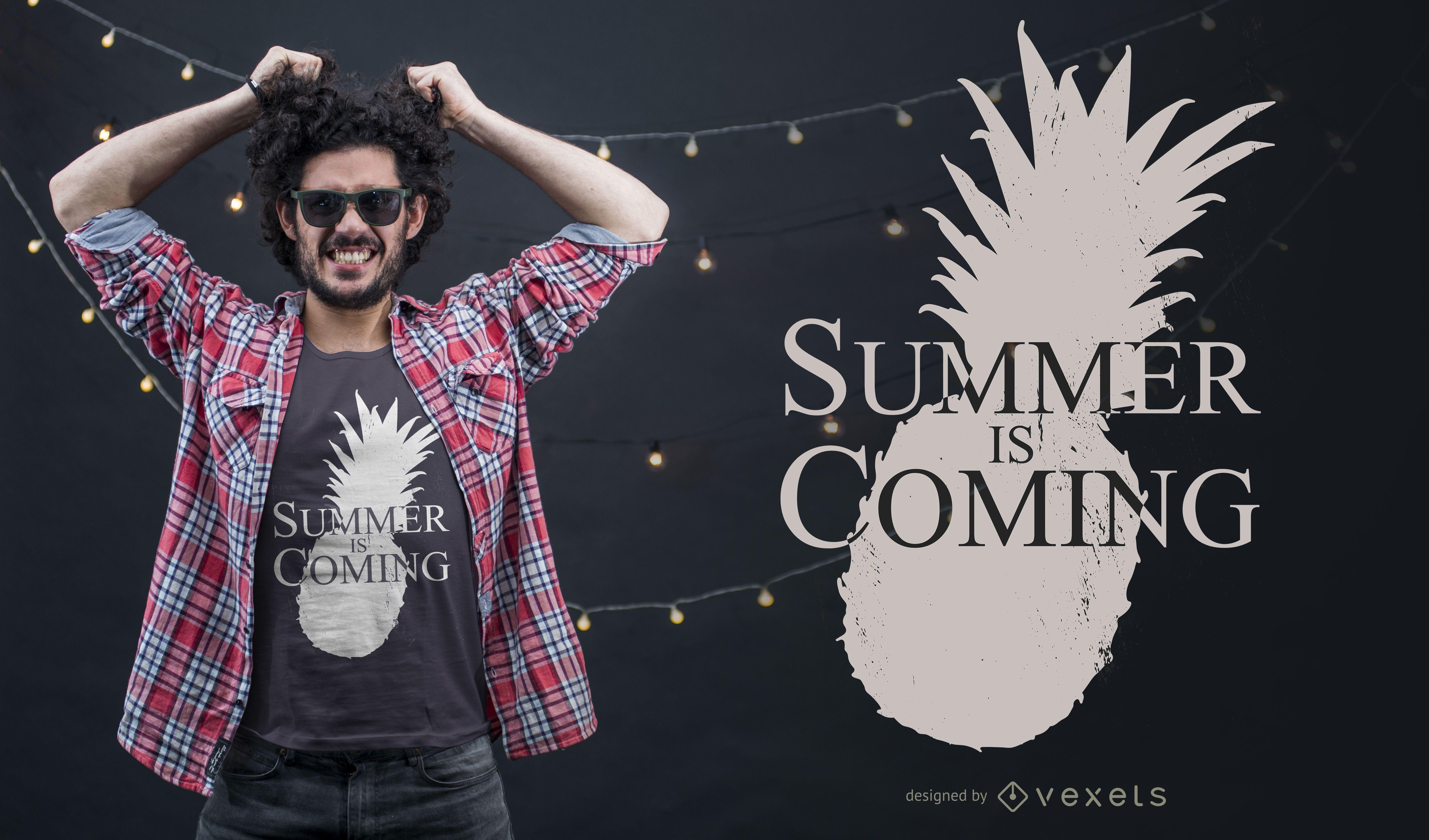 O verão está chegando. Design de camisetas