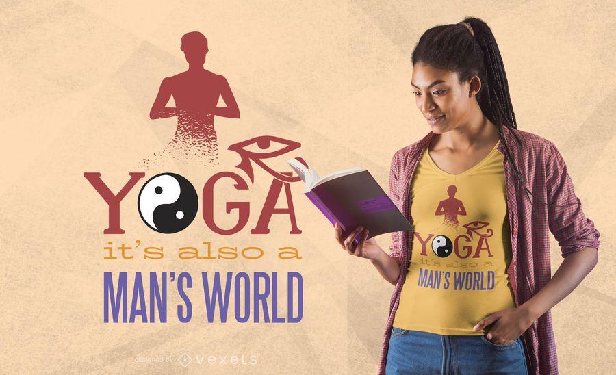 Diseño de la camiseta de la cita de los hombres de la yoga