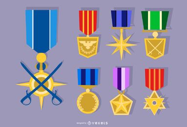 Army Medal Vector Set