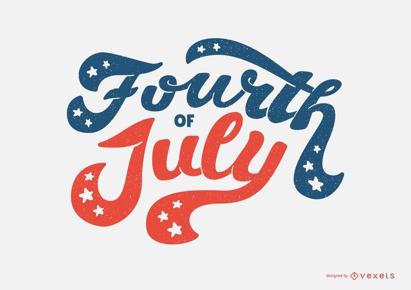 Fourth of July Lettering Design