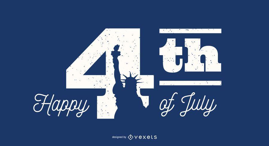Happy 4th of July Schriftzug