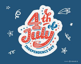 4. Juli Independence Day Design