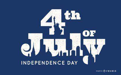 Design de rotulação do dia da independência