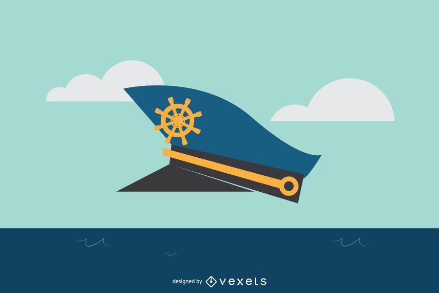 Capitán sombrero ilustración