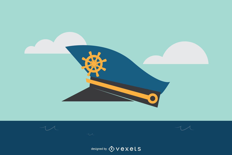 Captain Hat Illustration