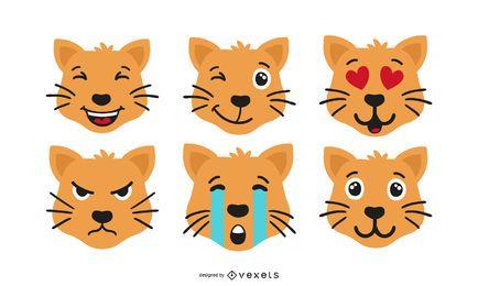 Katze Emoji Set