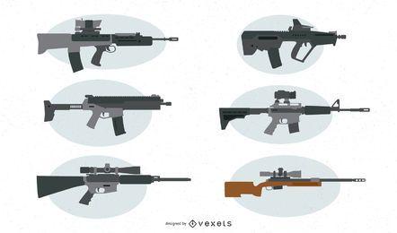 Feuerwaffen-Vektor-Set