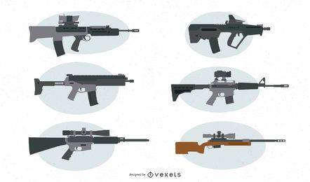 Firearms Vector Set
