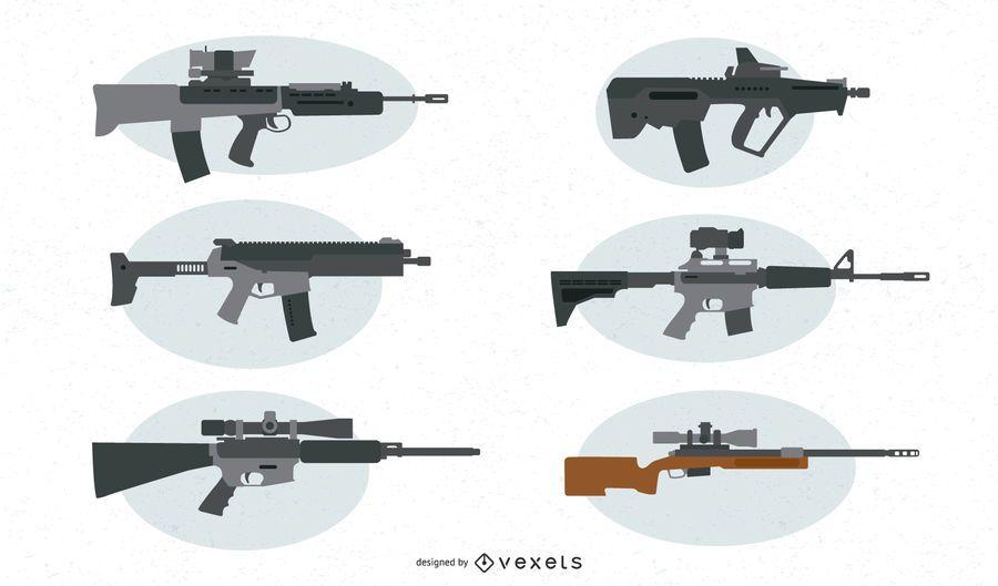 Firearms Vector Set