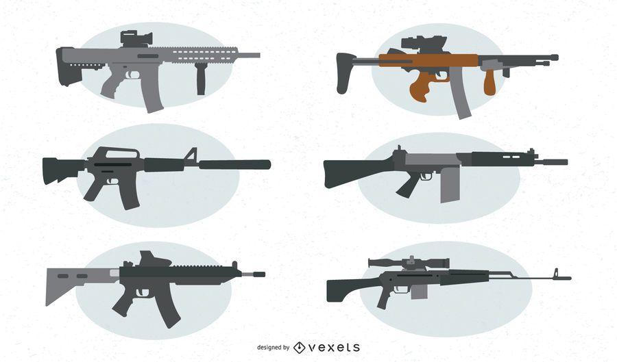 Assault Rifle Vector Set