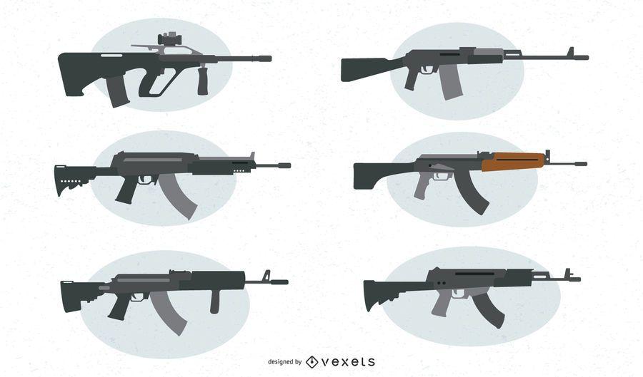 Assault Weapon Vector Set