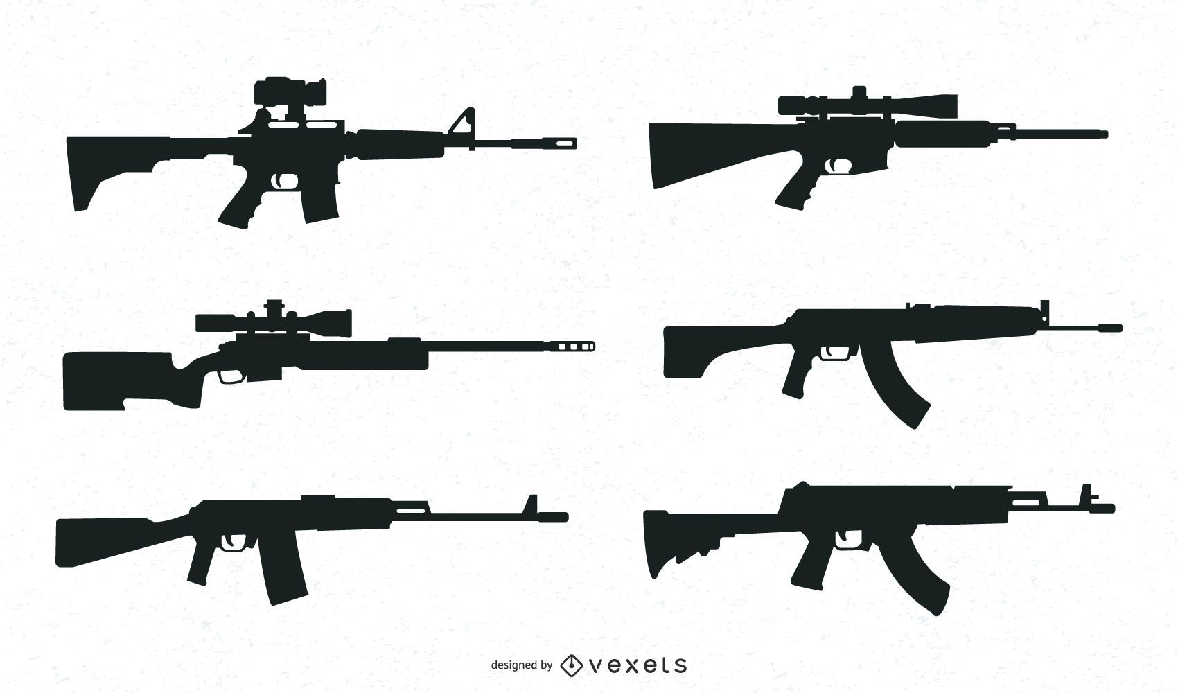 Guns Silhouette Collection`