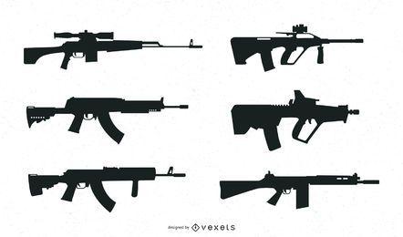 Diseño de silueta de escopeta