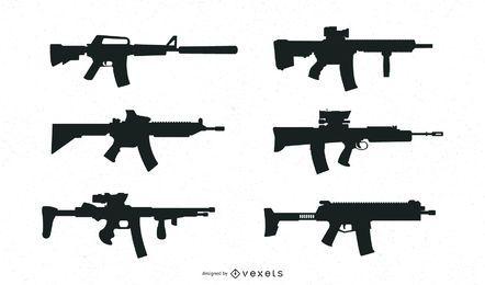 Gewehre Silhouette Sammlung