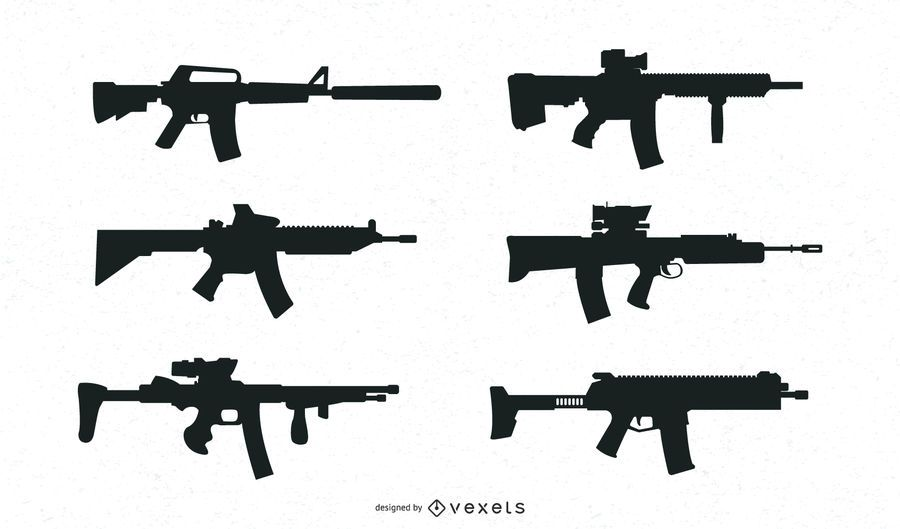 Guns Silhouette Collection