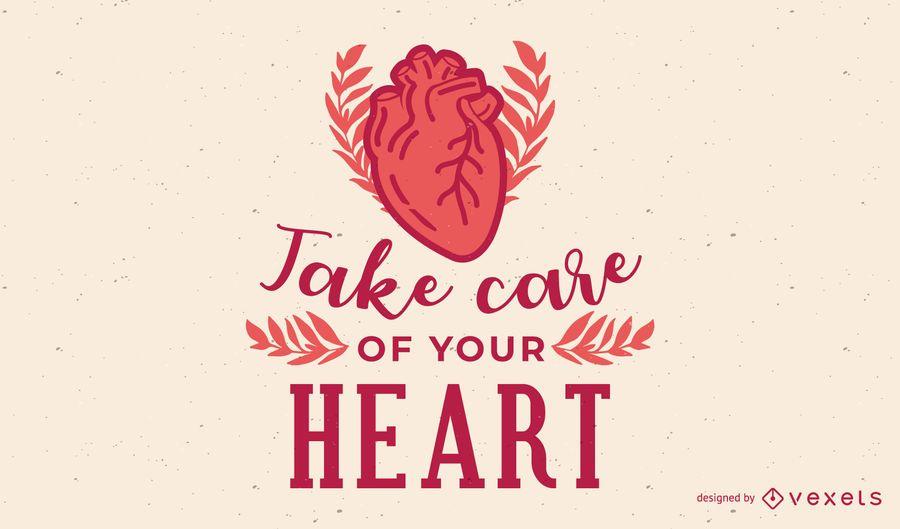 Cuide de sua ilustração do coração