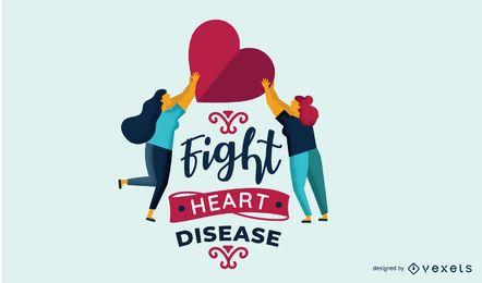 Ilustración de la lucha contra la enfermedad cardíaca