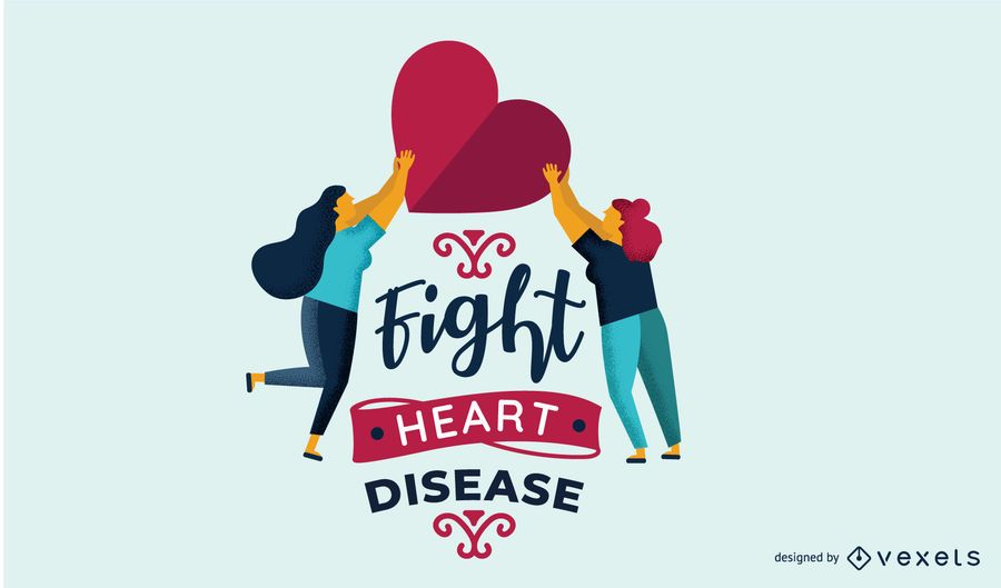 Kampf Herzkrankheiten Illustration