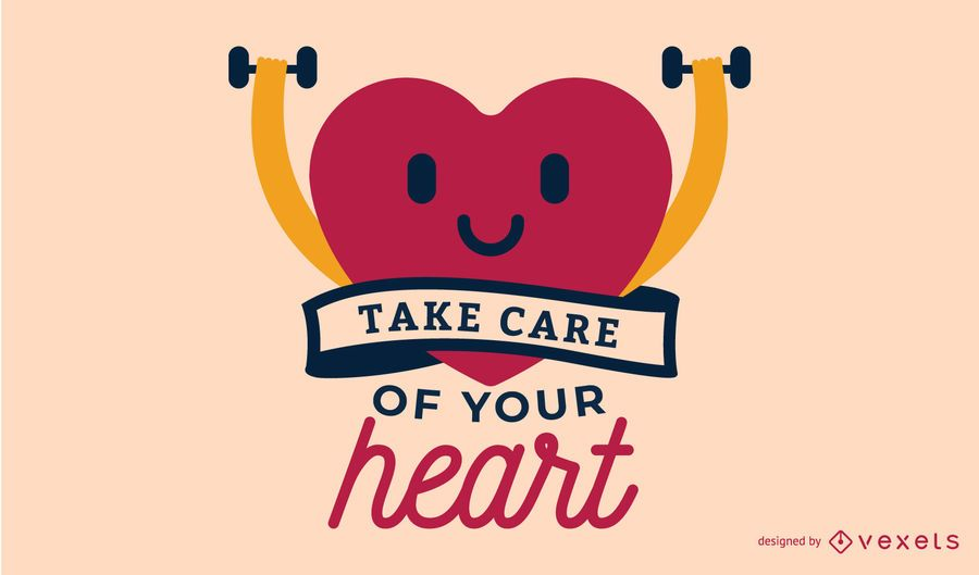 Take Care of your Heart Illustration