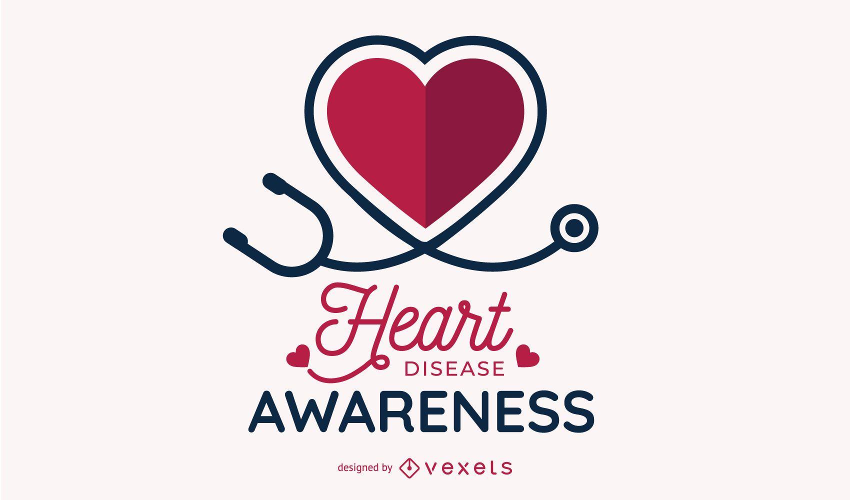 Heart Disease Awareness Design